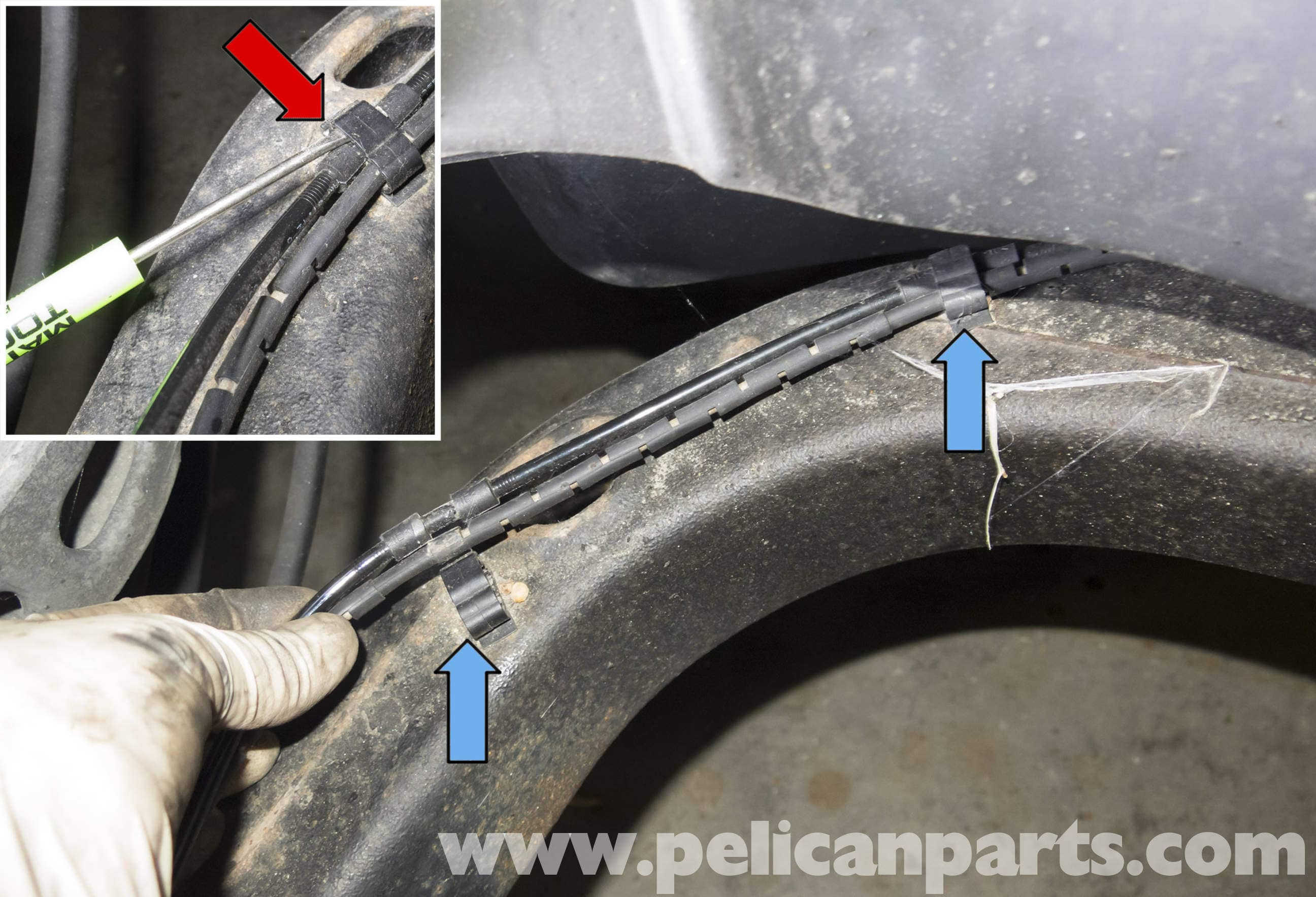 Pelican Technical Article Bmw X3 Abs Wheel Speed Sensor Replacement Wire Harness Connector Repair Large Image Extra