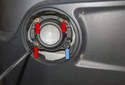 Fog Light: To adjust the height of the light, rotate the 6mm Allen (blue arrow) clockwise to raise beam and counterclockwise to lower beam angle.