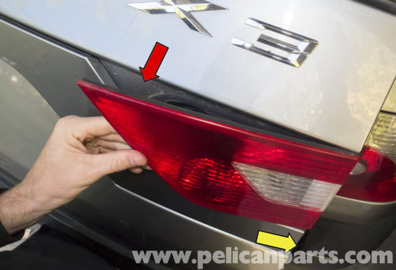 Pelican technical article bmw x3 tail light early replacement then remove the tail light by pulling in the inner corner out of tail gate freerunsca Image collections