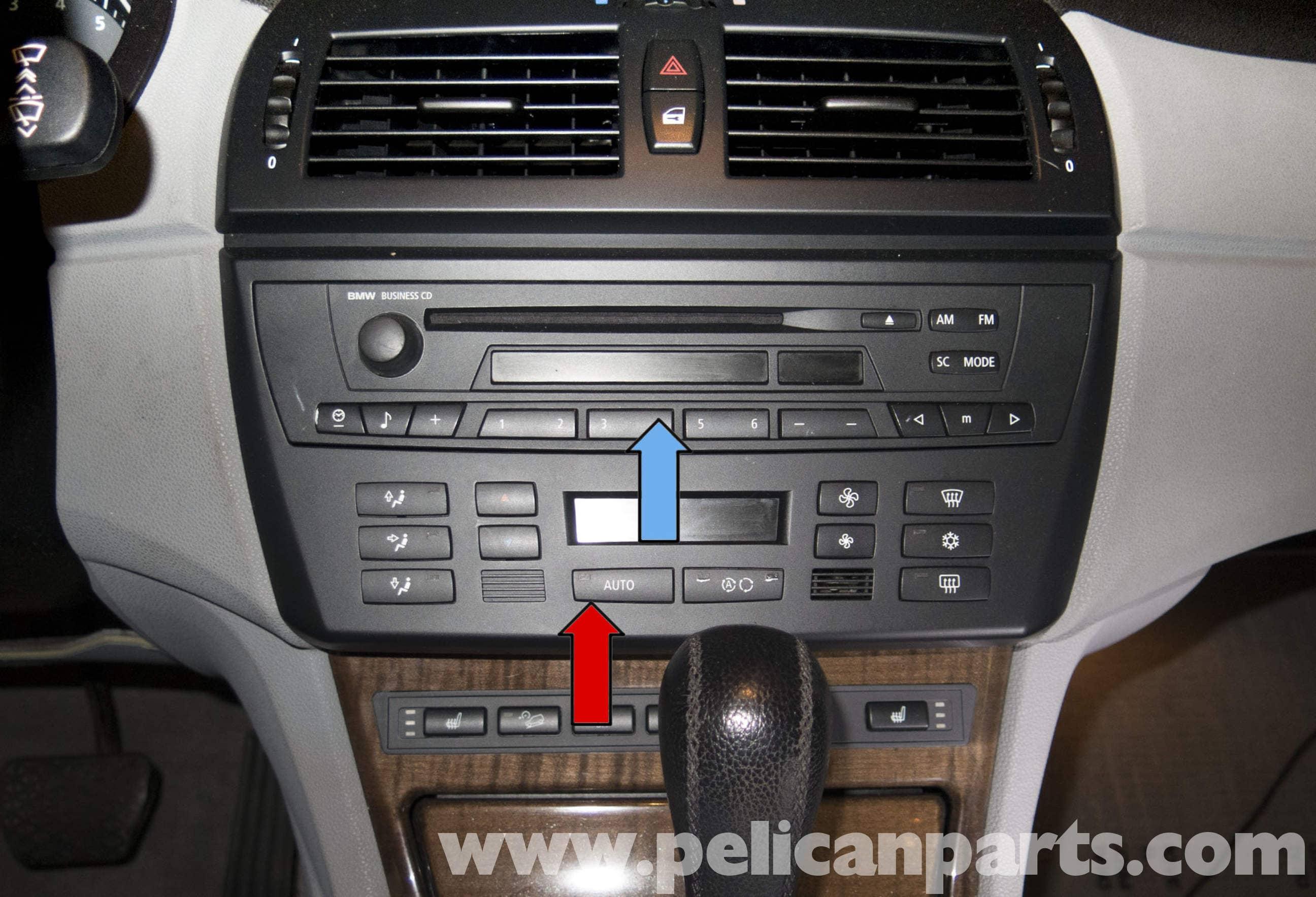 pelican technical article bmw x3 radio ihka panel replacement rh pelicanparts com 2007 bmw x3 radio owners manual 2008 BMW X3