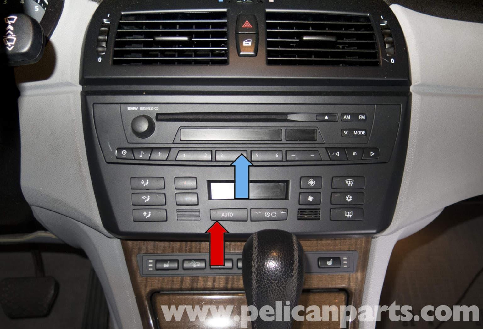pelican technical article bmw x3 radio ihka panel replacement rh pelicanparts com 2006 BMW X3 2015 BMW X3