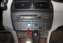 My subject vehicle X3 has the Business CD radio CD option (blue arrow) along with the IHKA system (red arrow).