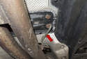 If replacing the front strap, it is a good idea to replace the rear strap as well (red arrow).