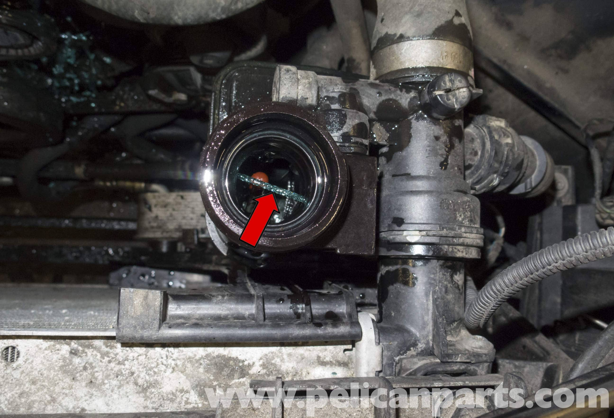 Pelican Technical Article - BMW-X3 - N52 Engine Thermostat Replacement