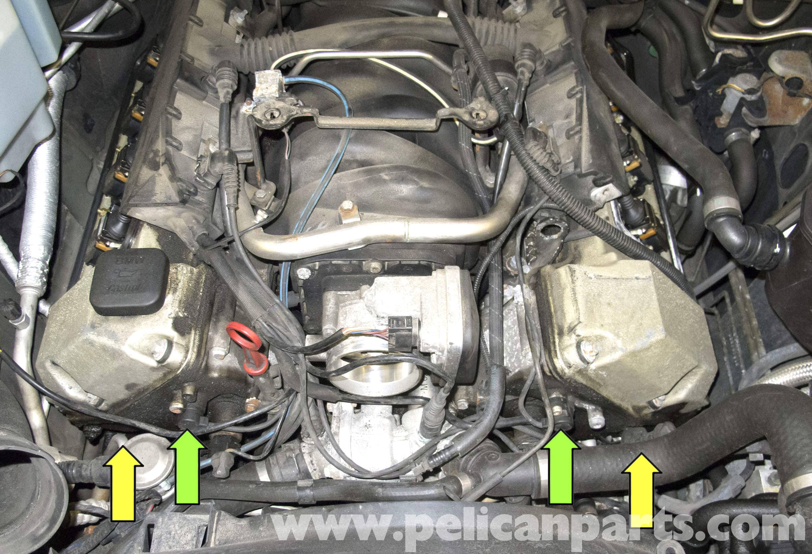 Bmw X5 M62 8 Cylinder Camshaft Position Sensor Replacement (e53 2000 2002 BMW  X5 Engine 2002 Bmw X5 Motor Wiring Harness