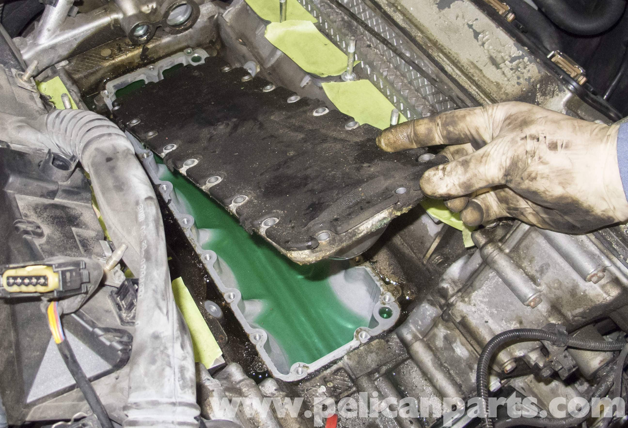 Bmw X5 Engine Valley Pan And Coolant Pipes Removal E53