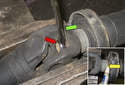 Secure the driveshaft in a vise.
