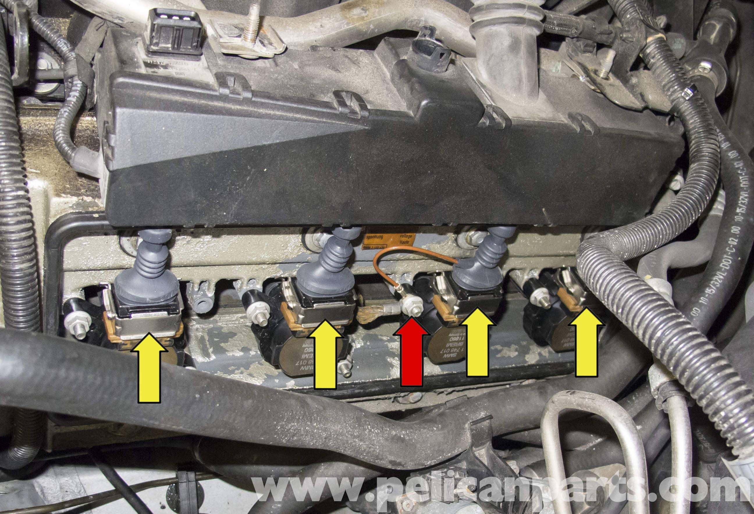 pic14 bmw x5 m62 8 cylinder fuel injector replacement (e53 2000 2006  at gsmportal.co