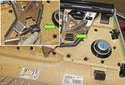 Check the door panel to make sure the black plastic retainer (green arrow) is on the door panel.