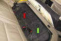 The fuel pump /sending unit is located in the right (green arrow) side of the fuel tank.
