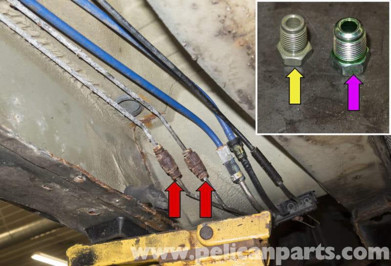 Brake Line Repair : Bmw brake line repairing e  pelican