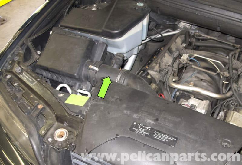 Testing Mass Air Flow Sensor >> BMW X5 M62 8-Cylinder Mass Air Flow (MAF) Sensor Replacement (E53 2000 - 2006) | Pelican Parts ...
