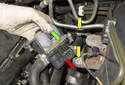 Remove the heater valve from the vehicle and install the hoses on the new one.