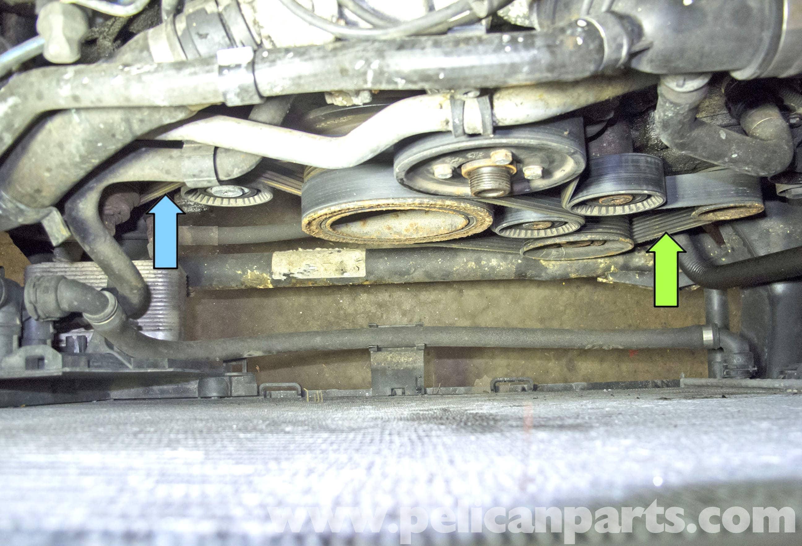 bmw x5 m62 8 cylinder drive belt replacement e53 2000 2006 rh pelicanparts com m62 belt routing Woods Mower Belt Diagram