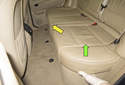 Rear Seat: Start by removing the rear seat cushion.