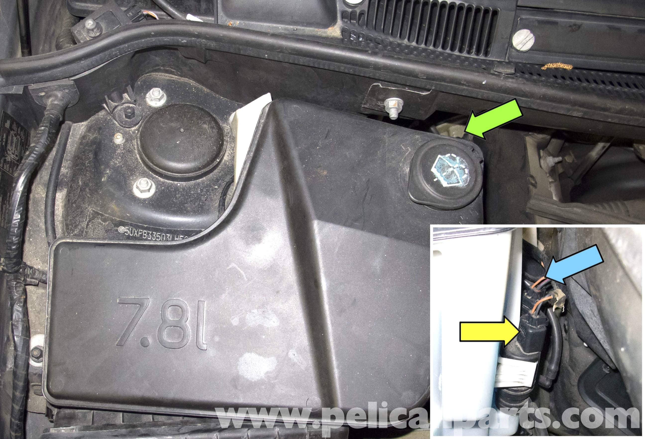 BMW X5 Washer Pump Testing and Replacement  E53 2000  2006    Pelican Parts DIY Maintenance Article
