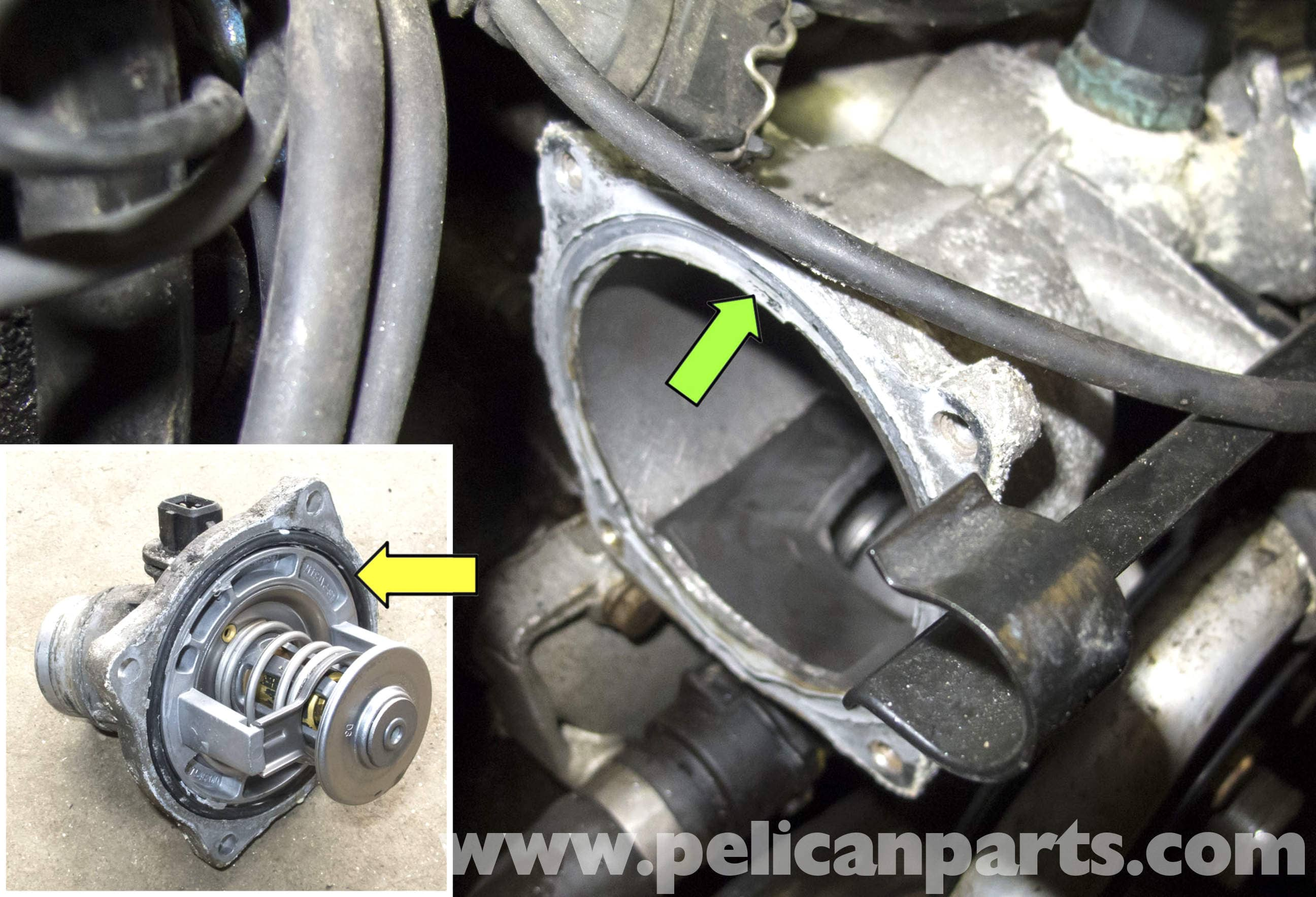 pic15 bmw x5 m62 8 cylinder thermostat replacement (e53 2000 2006 Honeywell Thermostat Wiring Diagram at bayanpartner.co