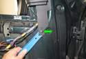 Mirror glass replacing: Remove the door trim panel from the door.