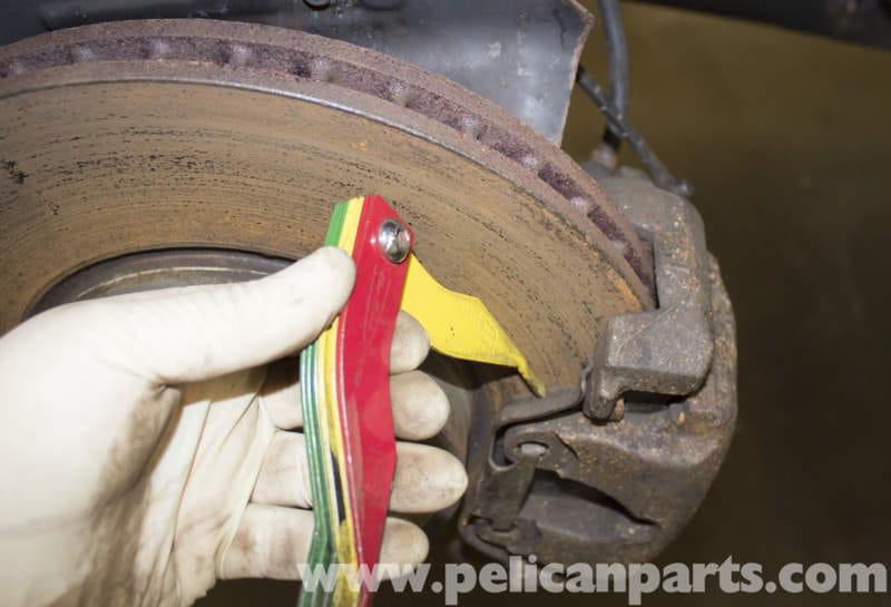 rear pcs pads black sensor wear front for engine indicator kit brake bmw pad car en