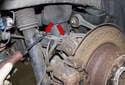 Rear sensor: Then open the wiring harness mounts (red arrows) using a flathead screwdriver.