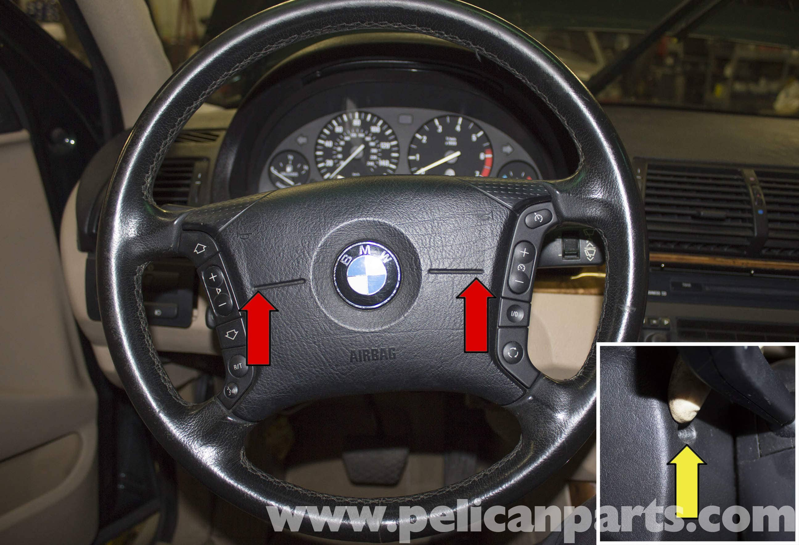 bmw x5 steering wheel and driver air bag replacement  e53