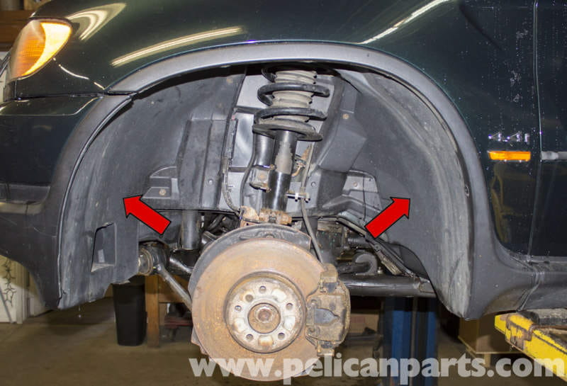 BMW X5 Front and Rear Wheel Well Liner Replacement (E53 ...