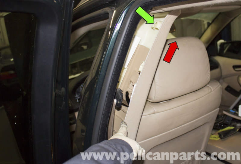 bmw x5 interior pillar panel replacement e53 2000 2006 pelican parts diy maintenance article. Black Bedroom Furniture Sets. Home Design Ideas