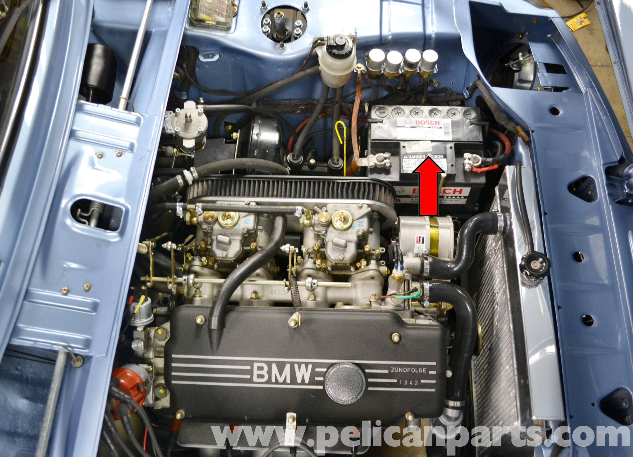 BMW 2002 Battery Connection Notes and Replacement (1966-1976 ...