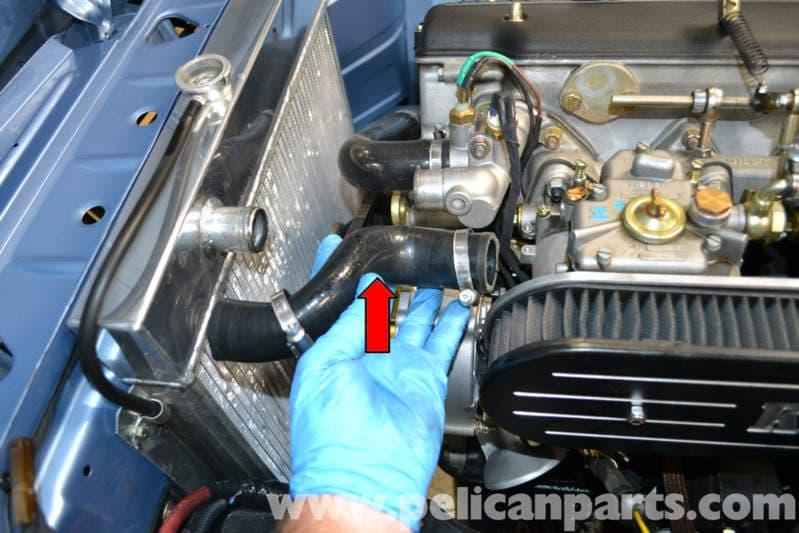pic02 bmw 2002 radiator hose replacement (1966 1976) pelican parts diy