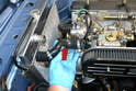 All of the Clarion Build's BMW 2002 hoses were in like new condition and held in place by new hardware.