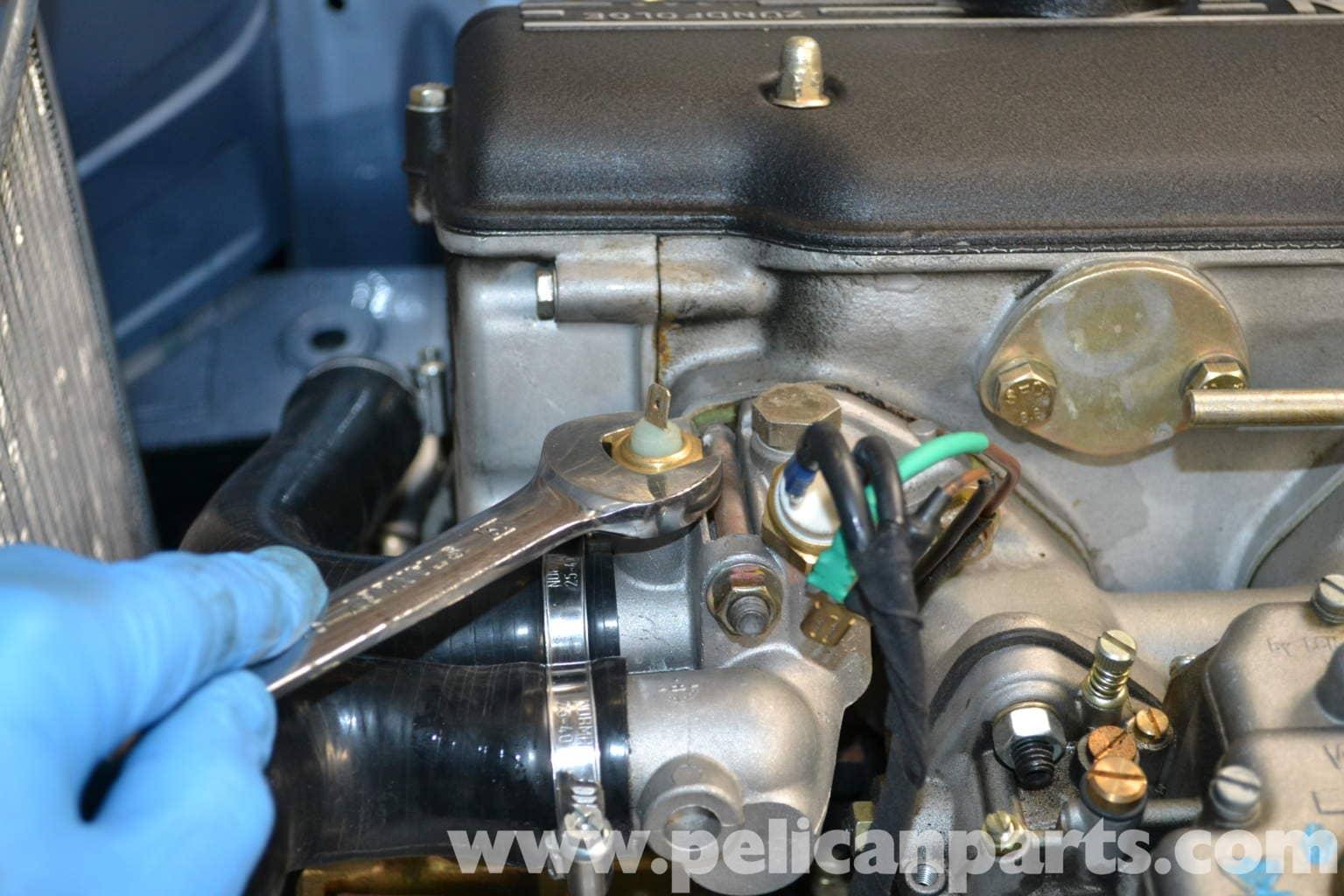 Engine Coolant Temperature Sensor >> BMW 2002 Coolant Temperature Sensor Replacement (1966-1976) | Pelican Parts DIY Maintenance Article
