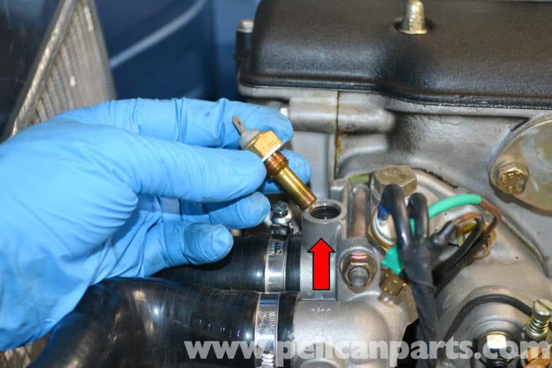 Pic on Engine Coolant Temperature Sensor Location