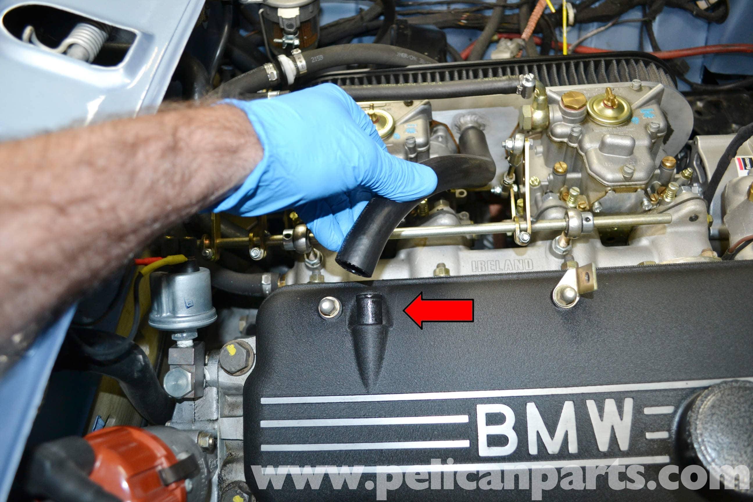 BMW 2002 Valve Cover Gasket Removal (1966-1976)   Pelican Parts DIY ...