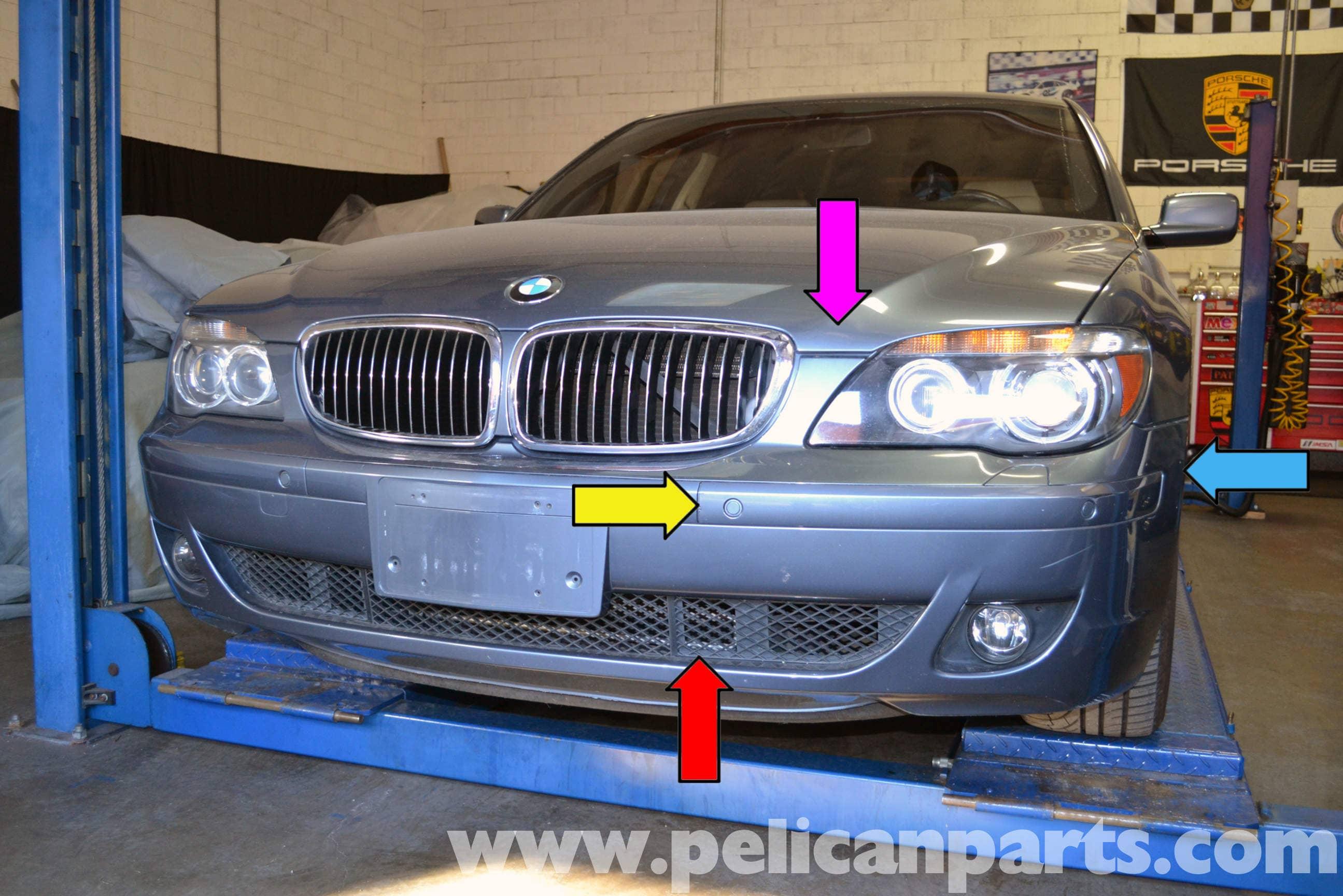 e46 front bumper trim removal