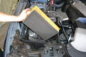 Pull the air filter from the airbox.