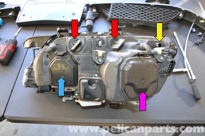 bmw e65 7-series headlight bulb replacement (2002-2008) - pelican parts  technical article  pelican parts