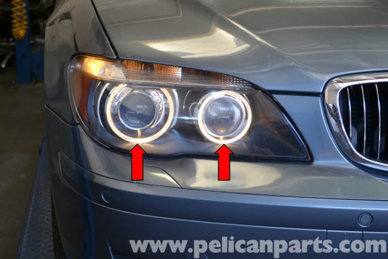 Bmw E65 7 Series Angel Eyes Headlight Assembly Replacement