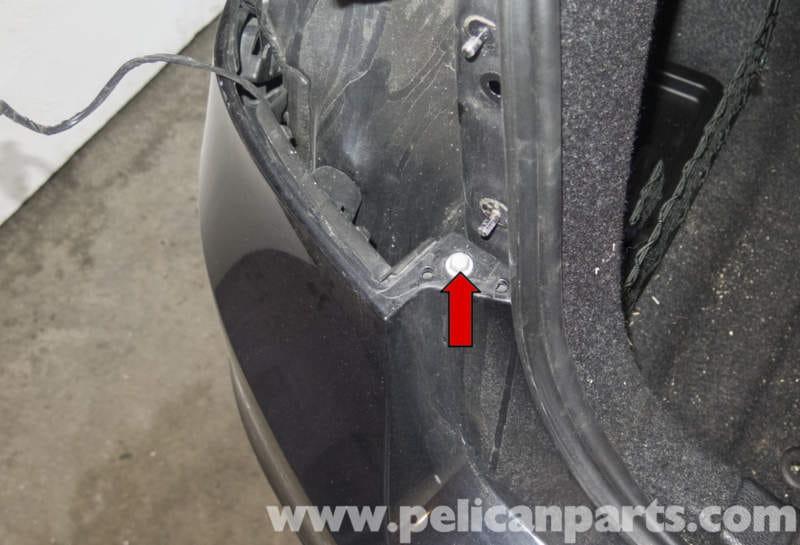 bmw e36 sedan rear bumper removal