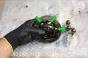 If you are able to remove the joint from the shaft, you can clean and rebuild it on the bench.