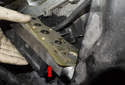 If you chose to remove the VANOS solenoid (red arrow), support it as the final fastener is removed and remove it downward with the sealing gasket.