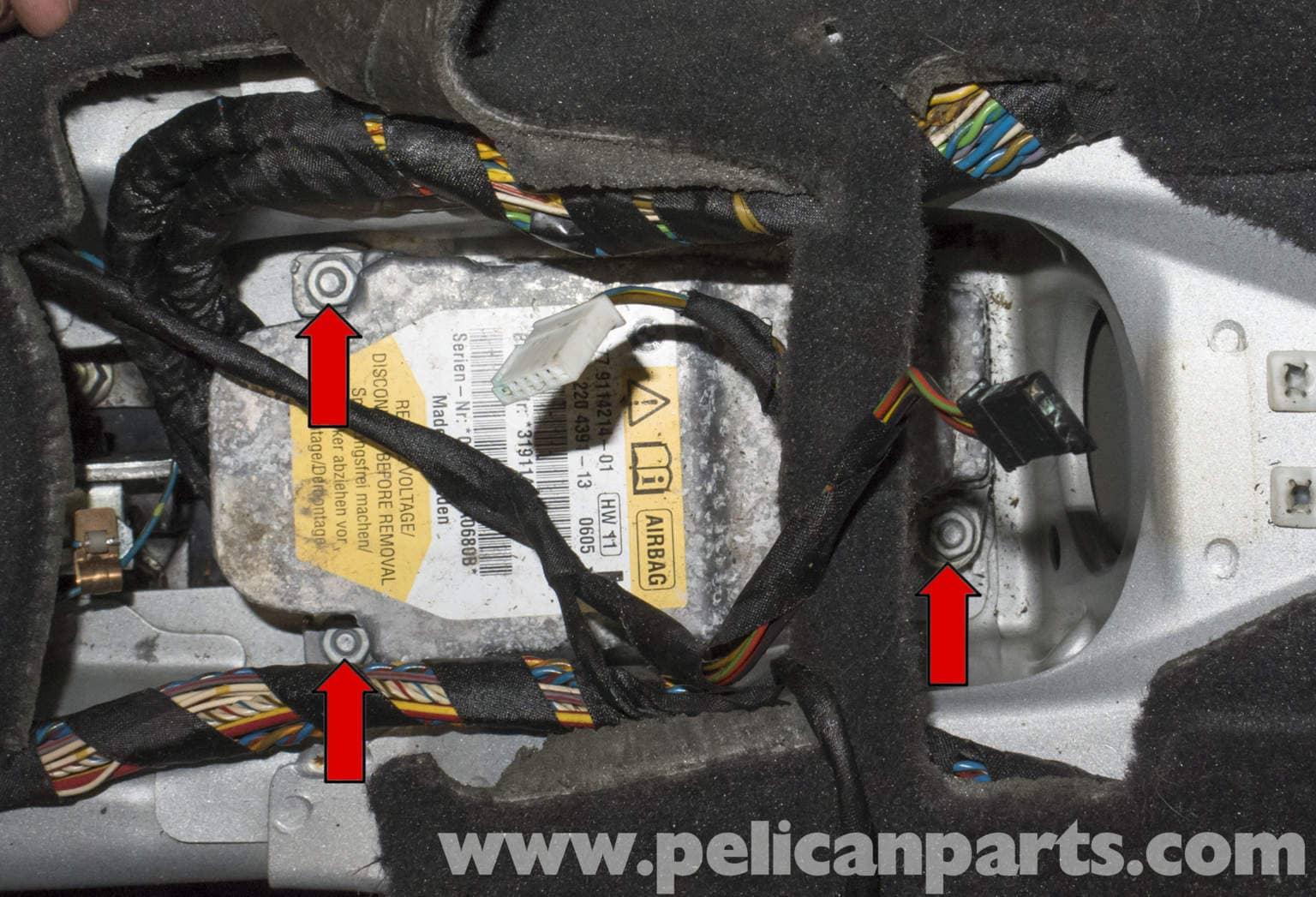bmw z4m airbag module replacement e85 2003 2008 pelican parts rh pelicanparts com 2012 BMW Z4 Wiring-Diagram BMW Wiring Harness Diagram