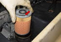 Install a new oil filter.