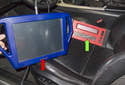 Follow the directions supplied with the scan tool to interrogate the vehicle fault memory.