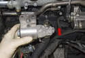 Remove the valve from the engine.