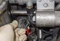 Coolant sensor: Start by disconnecting the idle air control valve electrical connector.