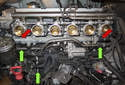 With the intake manifold removed you now have access to the coolant pipes.