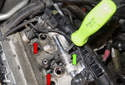 The top fasteners for cylinder 5 and 6 throttle bodies are hard to access.