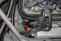 Exhaust camshaft sensor: The exhaust (outlet) camshaft sensor is located at the right rear of the cylinder head (green arrow).