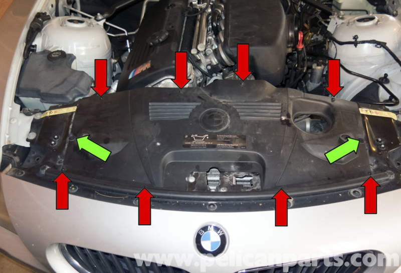 Working At The Top Of Radiator Support Remove Eight Phillips Head Screws Red: BMW Z4 Cooling Fan Wiring Diagram At Freddryer.co