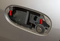 To replace the door handle carrier, start by removing the door latch.